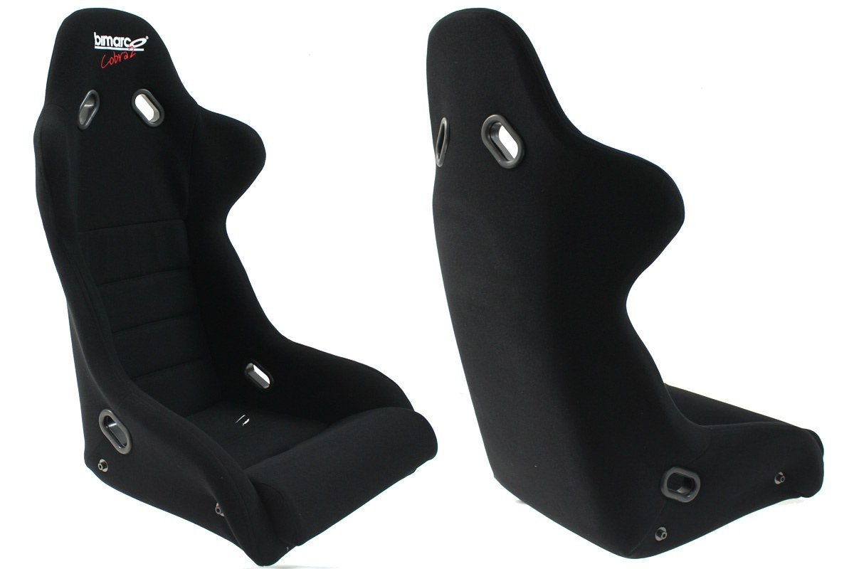 Fotel Sportowy Bimarco Cobra II Welur Black - GRUBYGARAGE - Sklep Tuningowy